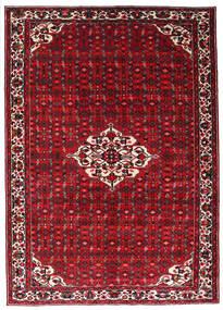 Hosseinabad Matto 215X301 Itämainen Käsinsolmittu Tummanpunainen/Punainen (Villa, Persia/Iran)