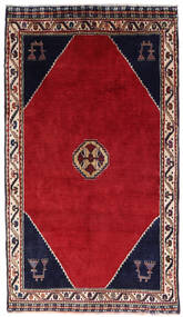 Shiraz Matto 120X205 Itämainen Käsinsolmittu Punainen/Tummanpunainen (Villa, Persia/Iran)