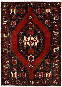 Hamadan Matto 142X198 Itämainen Käsinsolmittu Tummanpunainen (Villa, Persia/Iran)