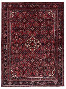 Hosseinabad Matto 143X194 Itämainen Käsinsolmittu Tummanpunainen (Villa, Persia/Iran)