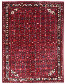 Hosseinabad Matto 156X205 Itämainen Käsinsolmittu Tummanpunainen (Villa, Persia/Iran)