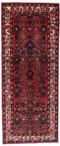 Hosseinabad Matto 80X193 Itämainen Käsinsolmittu Käytävämatto Tummanpunainen/Musta (Villa, Persia/Iran)