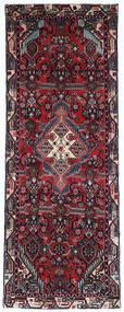 Hamadan Matto 67X185 Itämainen Käsinsolmittu Käytävämatto Tummanpunainen/Musta (Villa, Persia/Iran)