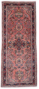 Sarough Matto 80X193 Itämainen Käsinsolmittu Käytävämatto Tummanpunainen/Tummansininen (Villa, Persia/Iran)