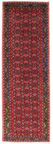 Hosseinabad Matto 71X208 Itämainen Käsinsolmittu Käytävämatto Punainen/Musta (Villa, Persia/Iran)