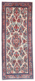 Sarough Matto 65X162 Itämainen Käsinsolmittu Käytävämatto Tummanharmaa/Vaaleanharmaa (Villa, Persia/Iran)