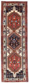 Ardebil Matto 64X190 Itämainen Käsinsolmittu Käytävämatto Tummanruskea/Tummanpunainen (Villa, Persia/Iran)