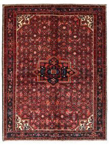 Hosseinabad Matto 158X207 Itämainen Käsinsolmittu Tummanpunainen/Musta (Villa, Persia/Iran)