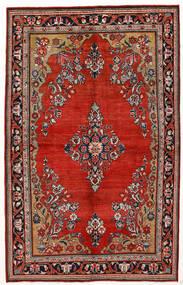 Sarough Matto 144X230 Itämainen Käsinsolmittu Tummanpunainen/Ruoste (Villa, Persia/Iran)