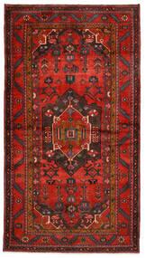 Hamadan Matto 140X254 Itämainen Käsinsolmittu Tummanpunainen/Tummanruskea/Ruoste (Villa, Persia/Iran)