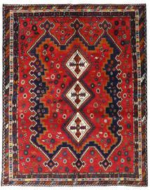Afshar Matto 165X205 Itämainen Käsinsolmittu Tummanpunainen/Musta (Villa, Persia/Iran)