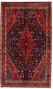 Hamadan Matto 138X230 Itämainen Käsinsolmittu Tummanpunainen/Tummanvioletti/Ruoste (Villa, Persia/Iran)
