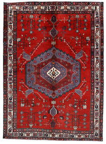 Afshar/Sirjan Matto 170X237 Itämainen Käsinsolmittu Tummanpunainen/Ruoste (Villa, Persia/Iran)