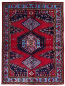 Wiss Matto 157X211 Itämainen Käsinsolmittu Tummanpunainen/Tummanvioletti (Villa, Persia/Iran)