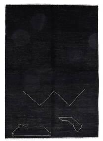 Moroccan Berber - Afghanistan Matto 163X235 Moderni Käsinsolmittu Musta (Villa, Afganistan)