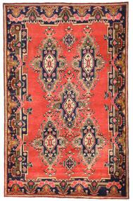Afshar/Sirjan Matto 165X261 Itämainen Käsinsolmittu Punainen/Tummanvioletti (Villa, Persia/Iran)