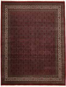 Bidjar Indo Matto 306X391 Itämainen Käsinsolmittu Musta/Tummanpunainen Isot (Villa, Intia)