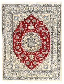 Nain Matto 145X190 Itämainen Käsinsolmittu Vaaleanharmaa/Tummanbeige (Villa, Persia/Iran)