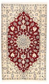 Nain Matto 122X210 Itämainen Käsinsolmittu Beige/Vaaleanpunainen (Villa, Persia/Iran)