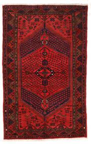 Zanjan Matto 126X205 Itämainen Käsinsolmittu Tummanpunainen/Tummanruskea/Ruoste (Villa, Persia/Iran)