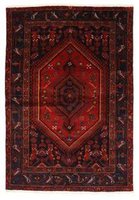 Zanjan Matto 147X214 Itämainen Käsinsolmittu Tummanpunainen/Ruoste (Villa, Persia/Iran)
