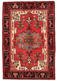 Nahavand Matto 136X200 Itämainen Käsinsolmittu Tummanpunainen/Musta (Villa, Persia/Iran)