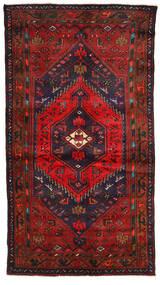 Zanjan Matto 130X234 Itämainen Käsinsolmittu Tummanpunainen/Tummanruskea (Villa, Persia/Iran)