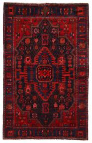 Nahavand Matto 142X225 Itämainen Käsinsolmittu Tummanpunainen/Ruoste (Villa, Persia/Iran)