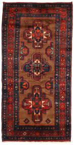 Koliai Matto 130X258 Itämainen Käsinsolmittu Käytävämatto Tummansininen/Tummanpunainen (Villa, Persia/Iran)