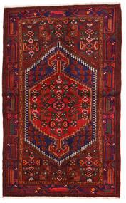 Zanjan Matto 131X213 Itämainen Käsinsolmittu Tummanpunainen/Musta/Ruoste (Villa, Persia/Iran)