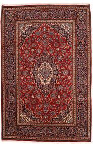 Keshan Matto 198X302 Itämainen Käsinsolmittu Tummanpunainen (Villa, Persia/Iran)