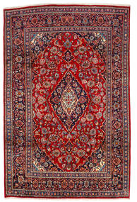 Keshan Matto 190X290 Itämainen Käsinsolmittu Tummanpunainen/Tummanruskea (Villa, Persia/Iran)