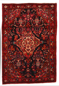 Nahavand Matto 162X240 Itämainen Käsinsolmittu Tummanruskea/Ruoste (Villa, Persia/Iran)