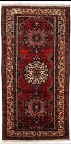Bakhtiar Matto 150X305 Itämainen Käsinsolmittu Käytävämatto Tummanpunainen (Villa, Persia/Iran)