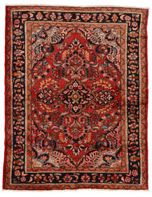 Lillian Matto 160X207 Itämainen Käsinsolmittu Tummanpunainen/Ruoste (Villa, Persia/Iran)