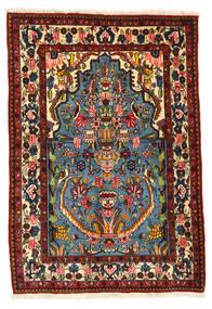 Bakhtiar Collectible Matto 104X152 Itämainen Käsinsolmittu Tummanruskea/Tummanpunainen (Villa, Persia/Iran)