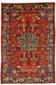 Nahavand Old Matto 162X242 Itämainen Käsinsolmittu Tummanpunainen/Tummanruskea (Villa, Persia/Iran)