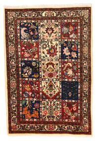 Bakhtiar Collectible Matto 100X148 Itämainen Käsinsolmittu Musta/Tummanpunainen (Villa, Persia/Iran)
