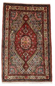 Bakhtiar Collectible Matto 100X158 Itämainen Käsinsolmittu Tummanruskea/Tummanpunainen (Villa, Persia/Iran)