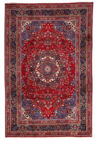 Mashad Matto 195X300 Itämainen Käsinsolmittu Tummanpunainen/Punainen (Villa, Persia/Iran)