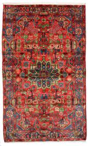 Nahavand Old Matto 155X255 Itämainen Käsinsolmittu Tummanpunainen/Tummanruskea (Villa, Persia/Iran)