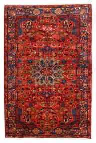 Nahavand Old Matto 155X235 Itämainen Käsinsolmittu Tummanruskea/Tummanpunainen (Villa, Persia/Iran)