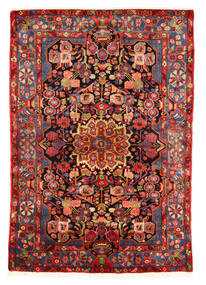 Nahavand Old Matto 153X220 Itämainen Käsinsolmittu Tummanpunainen/Ruoste (Villa, Persia/Iran)