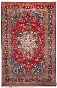 Mashad Matto 200X303 Itämainen Käsinsolmittu Tummanpunainen/Tummanvioletti (Villa, Persia/Iran)