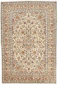 Keshan Matto 200X295 Itämainen Käsinsolmittu Beige/Tummanruskea (Villa, Persia/Iran)