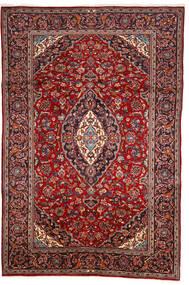 Keshan Matto 200X303 Itämainen Käsinsolmittu Tummanpunainen/Ruskea (Villa, Persia/Iran)