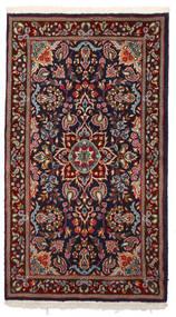 Kerman Matto 87X157 Itämainen Käsinsolmittu Tummanpunainen/Musta (Villa, Persia/Iran)