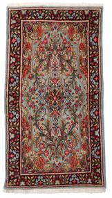 Kerman Matto 89X166 Itämainen Käsinsolmittu Tummanpunainen/Vaaleanruskea (Villa, Persia/Iran)