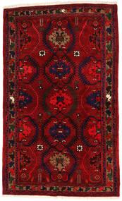 Hamadan Matto 136X224 Itämainen Käsinsolmittu Tummanpunainen/Punainen (Villa, Persia/Iran)