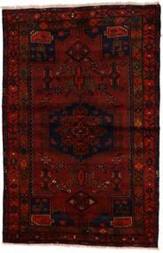 Zanjan Matto 137X212 Itämainen Käsinsolmittu Tummanruskea/Tummanpunainen (Villa, Persia/Iran)